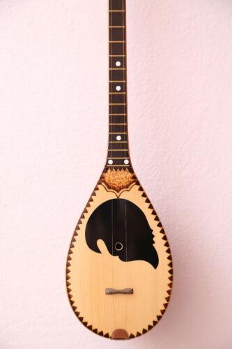 Albanian Cifteli Qifteli. Chromatic Tempered music instrument average size 86 cm