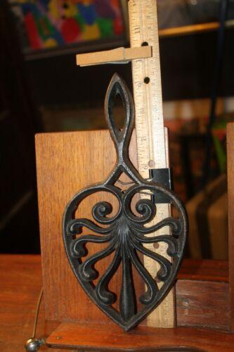 Antique Cast Iron Trivet Sad Iron Rest Ornate