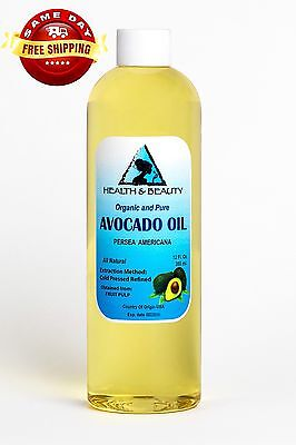 AVOCADO OIL REFINED ORGANIC CARRIER COLD PRESSED FRESH 100% PURE 12 OZ