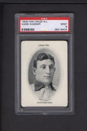 1906 Wg3 Fan Craze Honus Wagner Psa Mint 9 1 Of 5 Just 1 Higher Pittsburgh