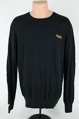 """Superdry """"Vintage"""" Charcoal Cashmere Blend V Neck Sweater Mens Large (Tag XXL)"""