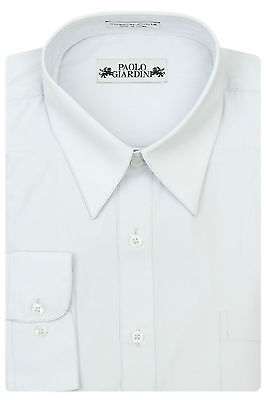 Paolo Giardini Mens Cotton Blend Regular Fit Dress Shirt