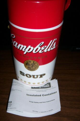 2011 Campbells Soup  Insulated Plastic Thermos 11.5 Oz  NEW    REDUCED