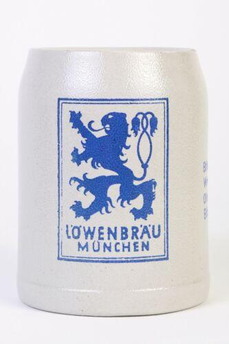 Vintage 1961 Lowenbrau Munchen Beer Stein Mug .5L Liter Germany Rare Wives Club