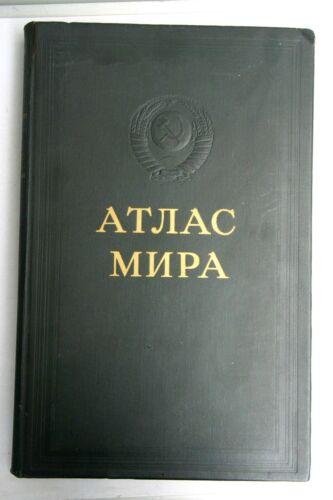 Very Rare 1967 Vintage Russian Soviet Atlas of the World - ATLAS MIRA BOOK