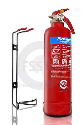 BSi Kitemarked 1KG DRY POWDER ABC FIRE EXTINGUISHER HOME OFFICE CAR KITCHEN.