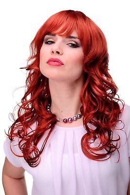 Unwiderstehlich lockige Damen-Perücke Rot Knallrot ca. 55 cm lang 9669-137