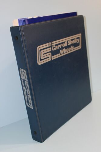 Orig 1973 Carroll Shelby Wheel Binder Book Cobra Mustang Press Kit Brochure SAAC