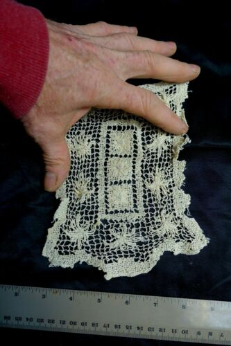 antique lace hand knotted