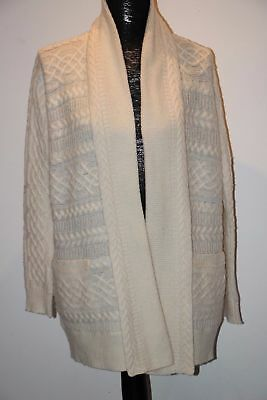 RALPH LAUREN Cable Knit Wool / Alpaca Blend Drape Open Front Cardigan sz 3X $335