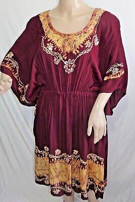 Riviera Sun Damen Plus One Free Größe Weinrot Batik Pailletten Bedecken Kleid