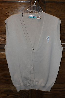Fairway Outfitters Womens Golf Sweater Vest Beige Button Down Size XL a2bb4293e