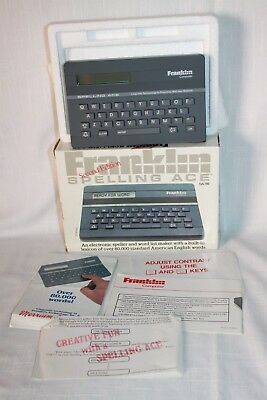 Franklin Spelling Ace SA-98 Second Edition Electronic Speller Still In Box