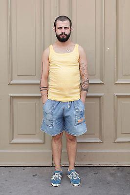 Sport Man Jeans kurz Hose pants blau blue 80er True VINTAGE 80´s men bequem