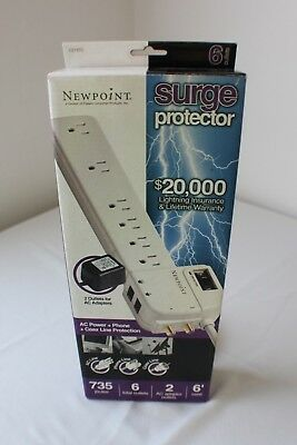 Power Control-center (Fiskars Newpoint Power Control Center Surge Protector)