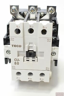Teco Cu-80 Magnetic Contactor 104 Amp 3 Phase 110v Coil 3a2a2b