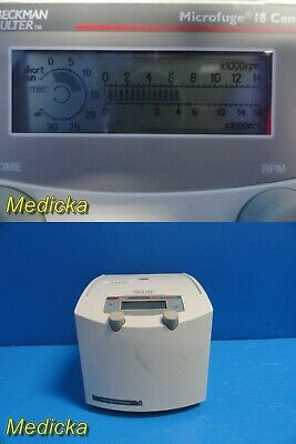 Beckman Coulter 367160 Microfuge 18 Centrifuge Wo Rotor 22013