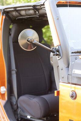 Mirror Relocation Pair Jeep Wrangler TJ JK 1997-18 Black Quick Release 391102510