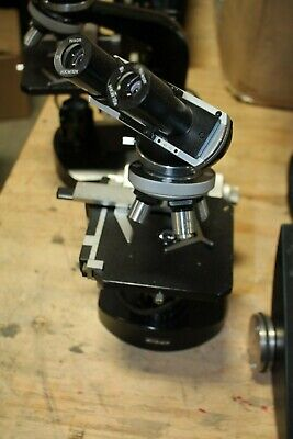 Nikon Microscope W 4 Objectives Eyepieces