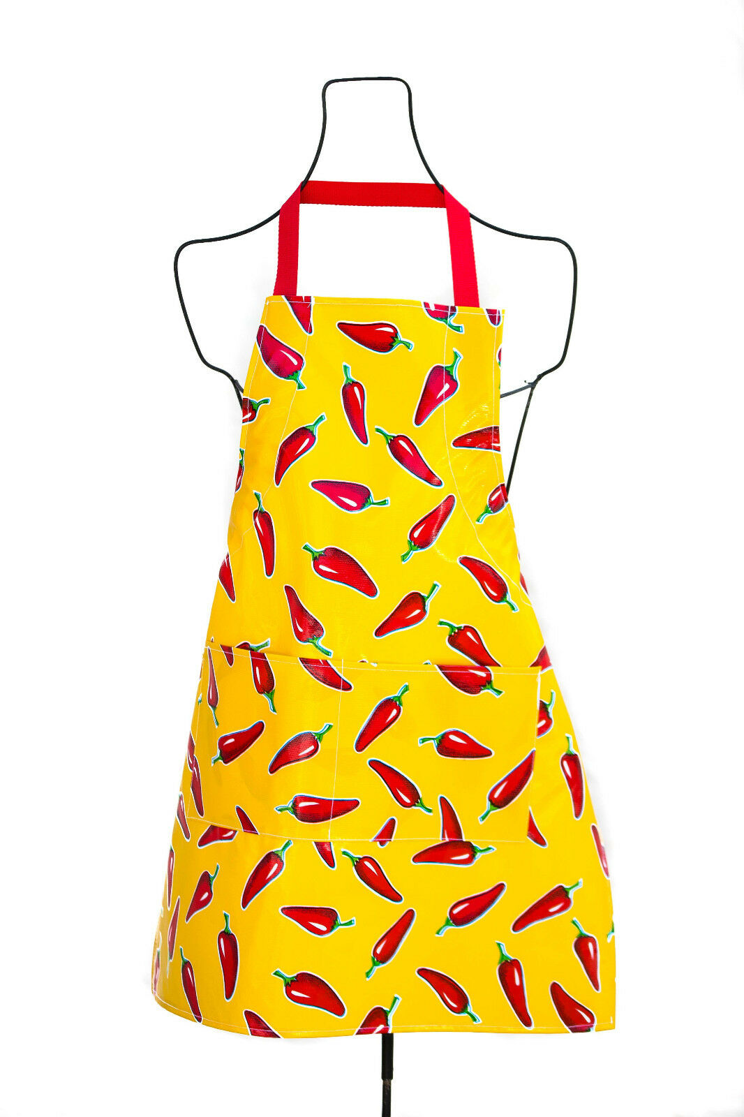 OilCloth International Red Chili Pepper Yellow Adult Size Bi