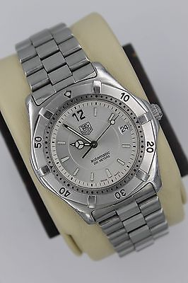 Tag Heuer 2000 AUTOMATIC Professional WK2116 Watch Men SILVER GRAY MINT CRYSTAL