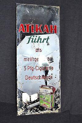 Werbespiegel ATIKAH Zigaretten Werbung Reklame Spiegel Barspiegel Spiegelbild