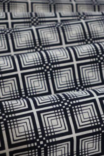 60 Inches long Vintage Japanese Indigo Cotton Geometric Yukata Fabric