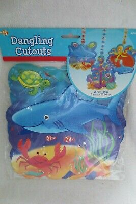 Under The Sea Birthday Party Dangling Cutouts Decorations New](Under The Sea Birthday Decorations)