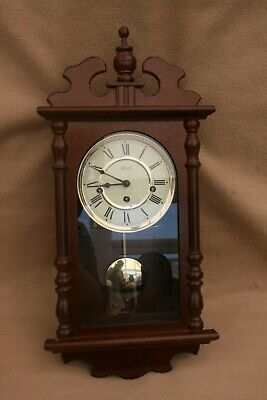 VINTAGE HERMLE 8 DAY WESTMINSTER CHIME WALL CLOCK