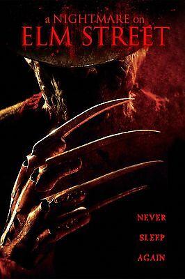 A NIGHTMARE ON ELM STREET Movie Silk Fabric Poster Horror Freddy Kruger