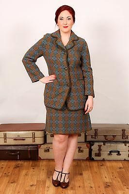 Vintage Welsh Wool tapestry skirt suit Real Welsh Tapestry 'Eclipse' tailored