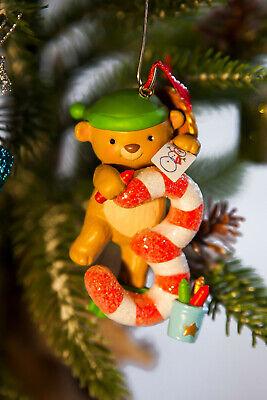 NIB 2014 HALLMARK CHRISTMAS ORNAMENT I AM THREE! AGE SERIES NEW BEAR 3rd RETIRED ()