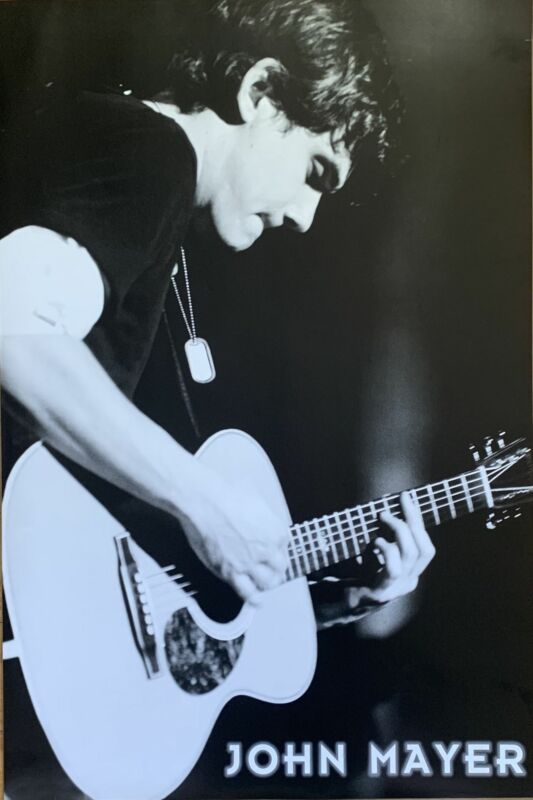 John Mayer Playing Guitar Poster 24 X 36