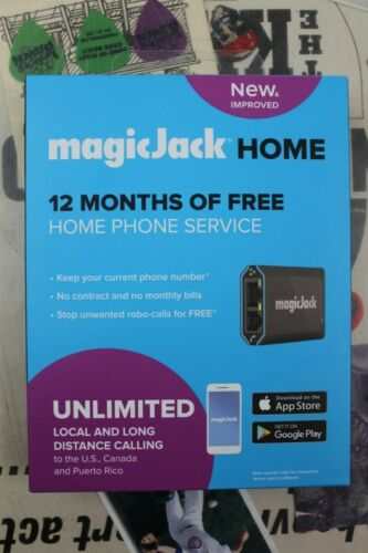 MagicJack - HOME VoIP Telephone Adapter - Local & Long Distance Calling - Black