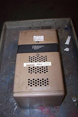 Sola 2000 Va Constant Voltage Transformer 120240 Output 23-26-220