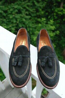 NIB Alden x Unionmade Black Suede Sutter Tassel Loafers – 9D