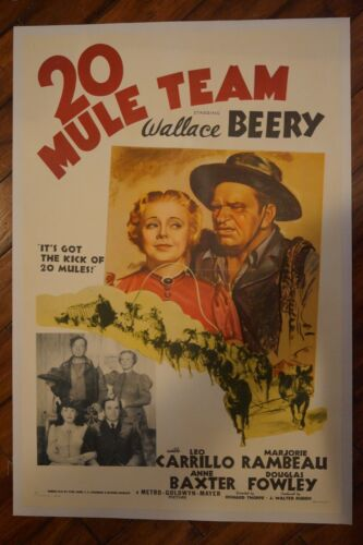 20 MULE TEAM (ON LINEN) - WALLACE BERRY