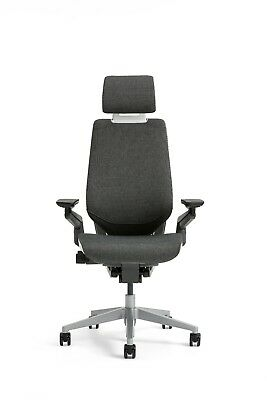 Steelcase Gesture Chair Adjustable Lumbar Headrest Platinum Light Frame Graphite