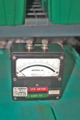 Vintage Weston Electrical Instruments Amperes Ac Meter Model 433 0-10
