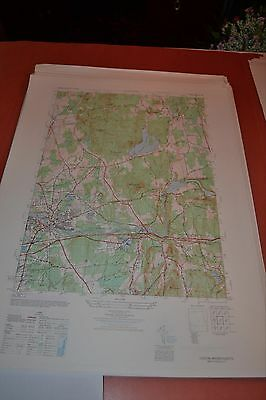 1940's Army topographic map Ludlow Massachusetts -Sheet 6568 III NW