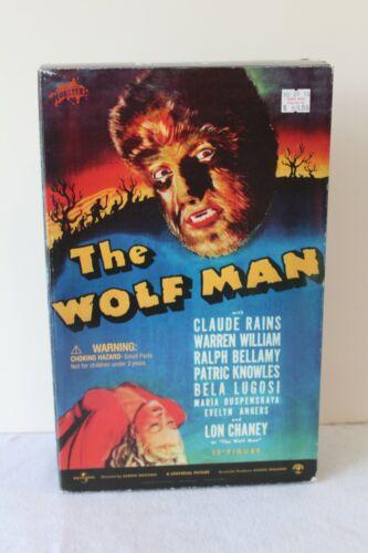 "SIDESHOW UNIVERSAL STUDIOS MONSTERS Lon Chaney WOLF MAN 12"" FIGURE RARE NEW NIB"
