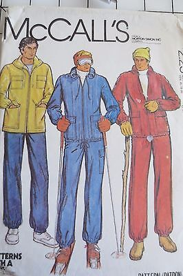 Vintage McCall's  sewing pattern,men unlined jacket, pants,  size 42