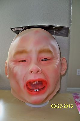 ADULT CRYING BABY PVC MASK FUNNY COSTUME MR131319 (Baby Crying Mask)