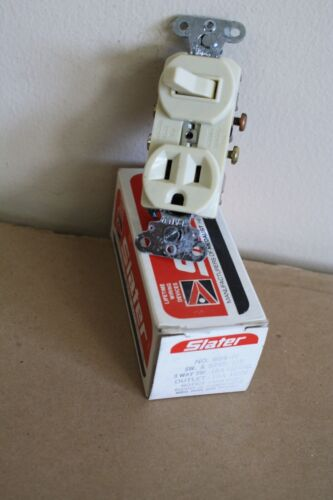 3 WAY SWITCH WITH RECEPTACLE - IVORY