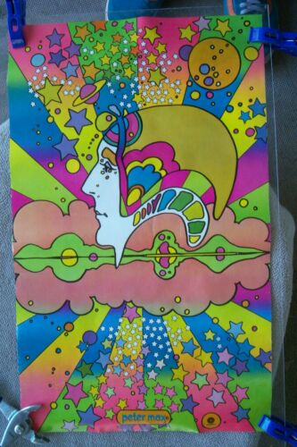 PETER MAX CAPITOL RECORDS POSTER PSYCHEDELIC A Different Drummer Smiles double