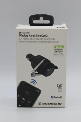 Scosche Bluetooth Power Delivery FM Transmitter 12W USB-A and 18W USB-C - Black