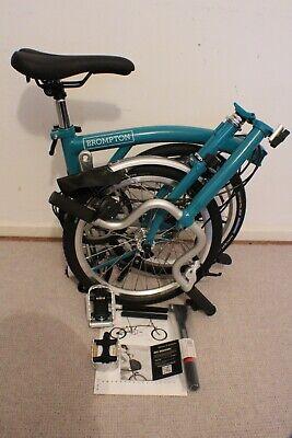 Brompton M3L Folding Hybrid Bike Blue New in Box