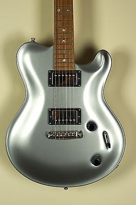 Nik Huber Silver Dolphin II Silver NAMM Bolt On Guitar Curly Maple Neck Rosewood