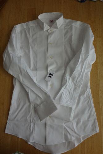 NWOT Brooks Brothers White Cotton Formal Shirt 14.5-30.25 Slim Fit  MSRP $285