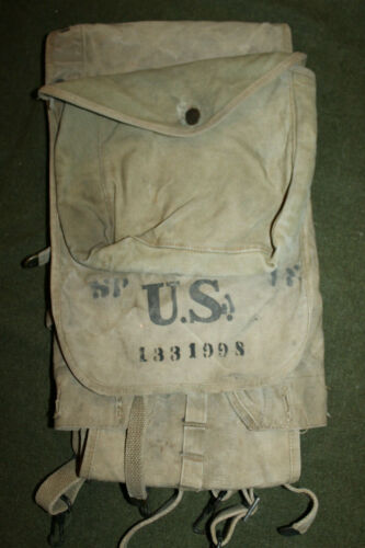 Scarce Original WW1 U.S. Army M1910 (Haversack) Combat Pack, Complete & 1917 d.